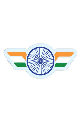 Winged Indian Flag Sticker - ChrisCross.in