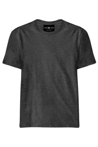 Plain Black Melange T-Shirt - ChrisCross.in