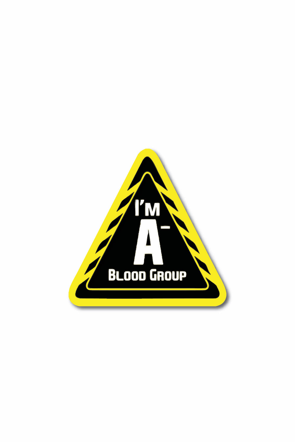 Blood Group Sticker: A- - ChrisCross.in