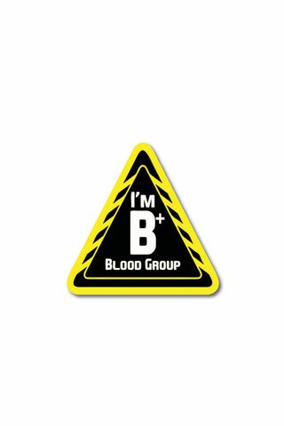 Blood Group Sticker: B+ - ChrisCross.in