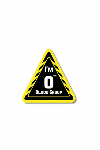 Blood Group Sticker: O- - ChrisCross.in