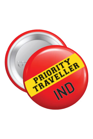 Button Badges - Priority Traveller - ChrisCross.in
