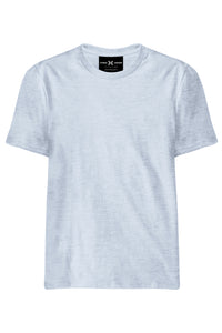 Plain White Melange T-Shirt - ChrisCross.in