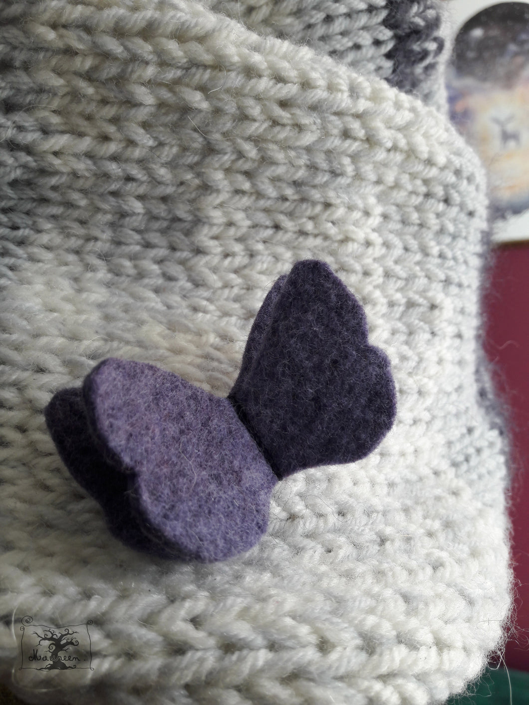 tiny broche papillon coloris violet
