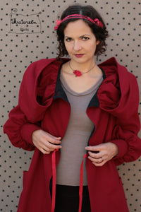 manteau nabou rouge