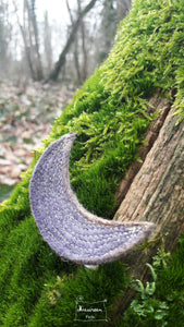 barrette lune violet-or