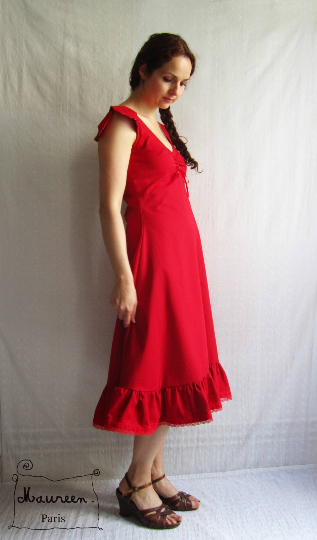 robe Laura rouge