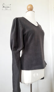 pull grimm polaire gris