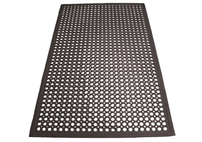 Rubber Floor Mats, Beveled Edge