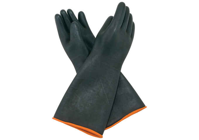 Heavy-Duty Natural Latex Gloves, 10-1/2″ x 18-1/2″