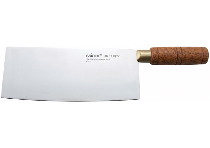 Chinese Cleaver, Wooden Handle, 8″ x 3-1/2″ Blade