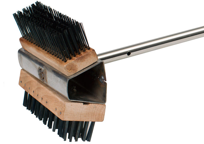 Dual-Headed Wire Oven Brush with 28″ Stainless Steel Handle