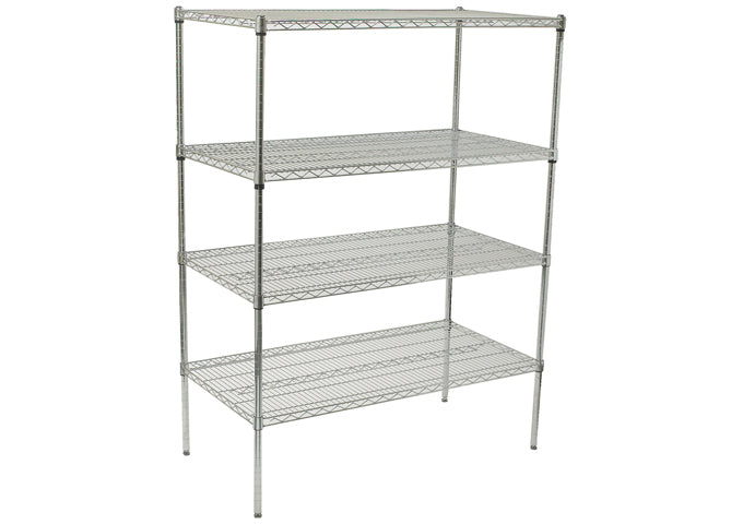 4-Tier Wire Shelving Set, Chrome-Plated