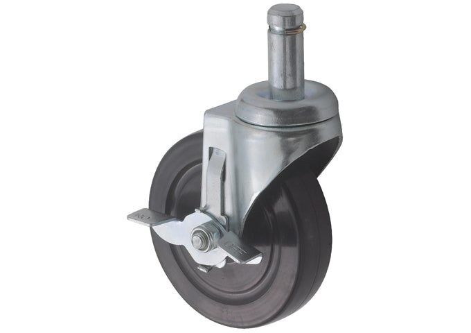 Caster with Brake for Wire Shelving