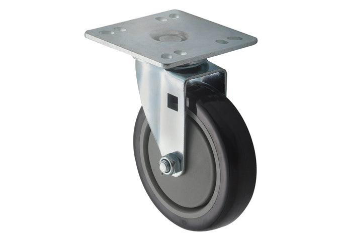 Universal Plate Caster Set, 4″ Square, 5″ Wheels