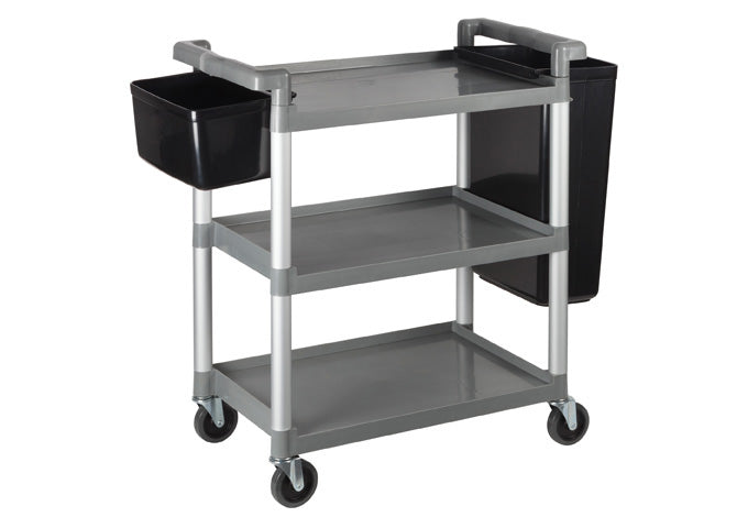 Utility Cart, 3 Tiers, Gray
