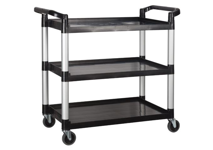 Utility Cart, 3 Tiers, Black