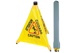 Caution Sign, Pop-Up Safety Cone with Storage Tube