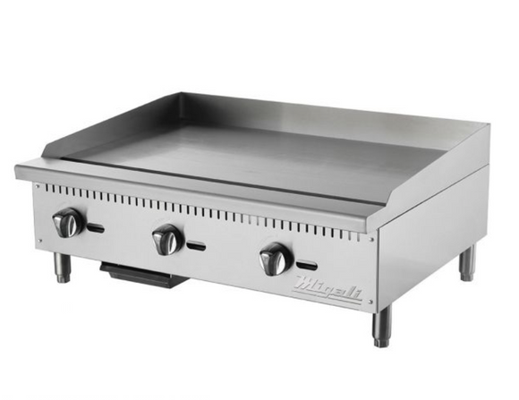 36″ Wide Manual Griddle - 90,000 BTU