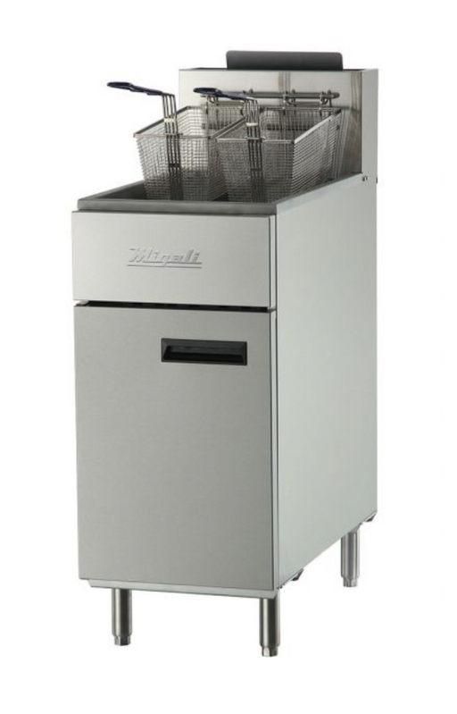 40 lb Natural Gas Fryer - 102,000 BTU