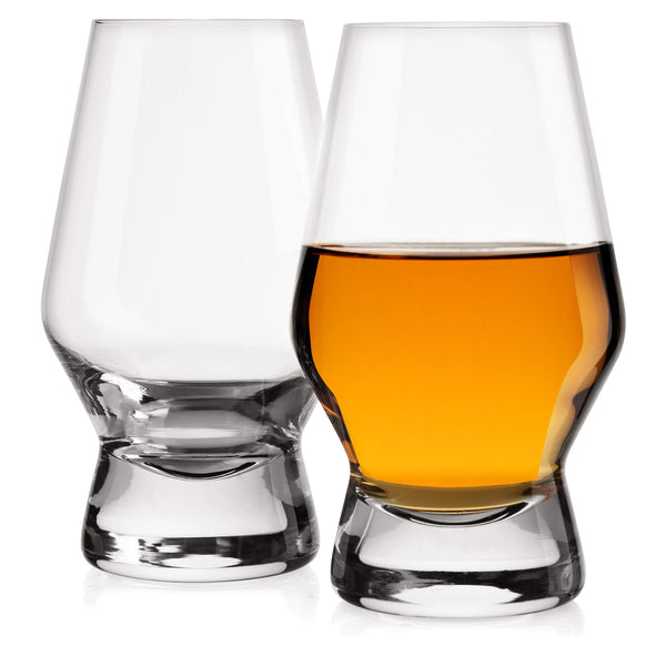 Halo Crystal Whiskey/Scotch Glasses - Set of 2 (7.8 oz)