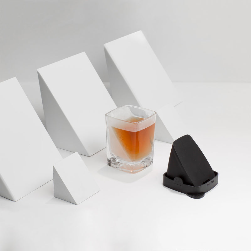 Corkcicle Whiskey Wedge - Double Old Fashioned Glass + Silicone Ice Form