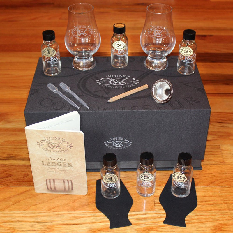 Whisky Connoisseur Canvas Whisky Travel Kit w/ Glencairn Glasses
