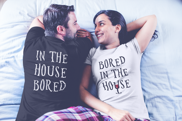 Bored in the House | Mens T-Shirt (White Wine)