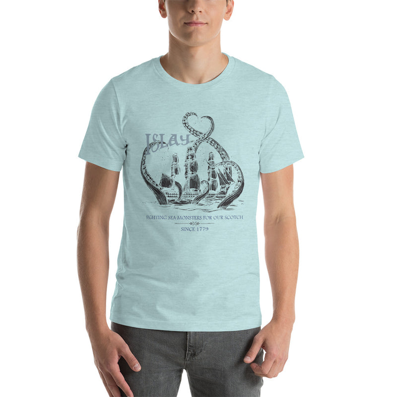 Islay Sea Monsters | Black Ship | Mens T-Shirt
