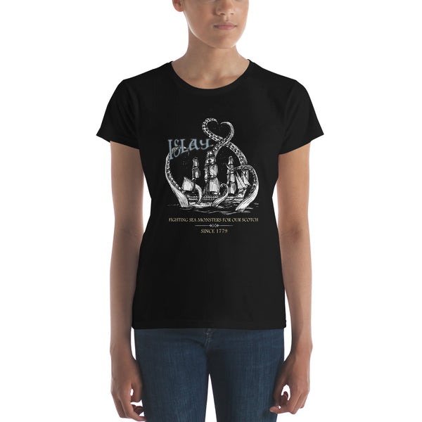 Islay Sea Monsters | White Ship | Womens T-Shirt