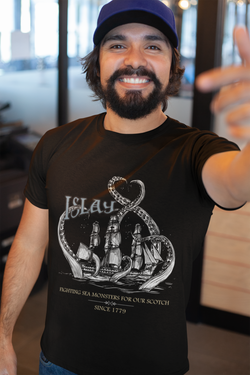 Islay Sea Monsters | White Ship | Mens T-Shirt