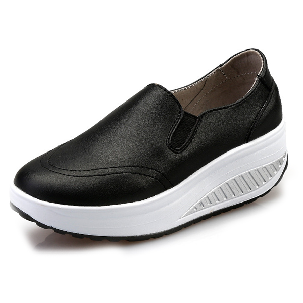 Comfy Slip-On Matte Platform Shoes