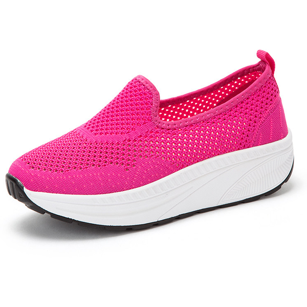 Comfy Slip-On Mesh Platform Shoes