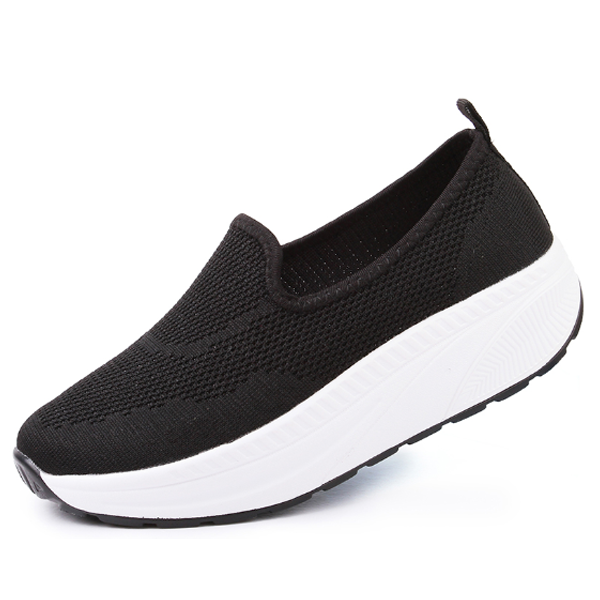 Comfy Slip-On Double Mesh Platform Shoes