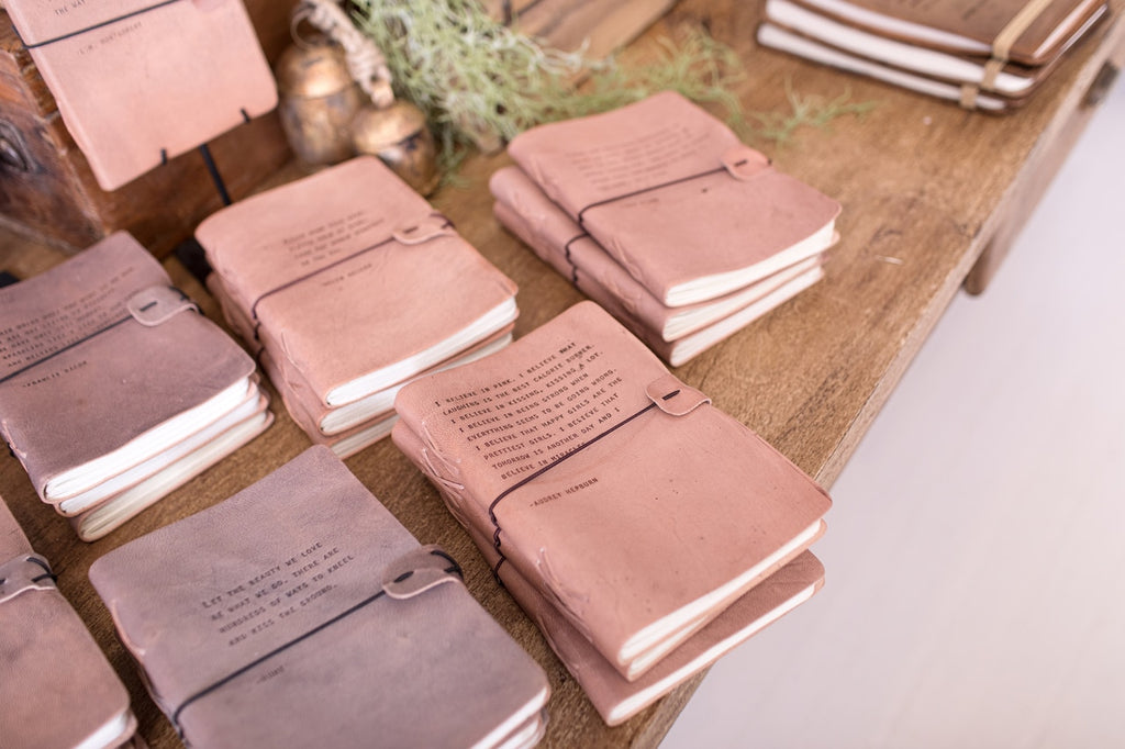 Sugarboo Designs -Artisan Leather Journal - Blush