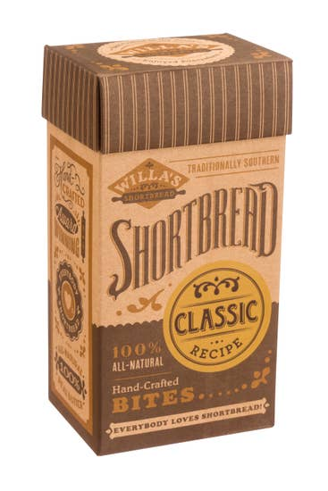 WILLA'S SHORTBREAD - Classic Shortbread - Fliptop Kraft Box