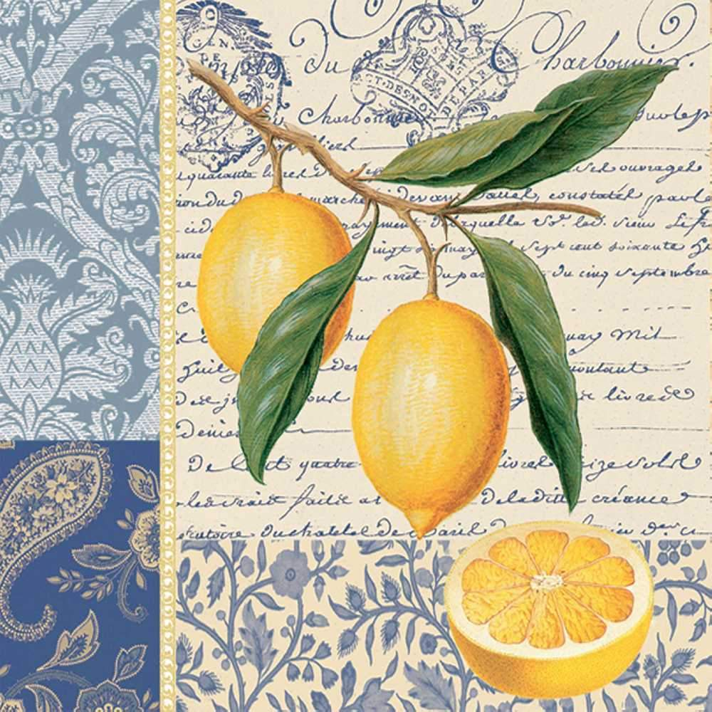 PPD - Citron Beverage/Cocktail Paper Napkins
