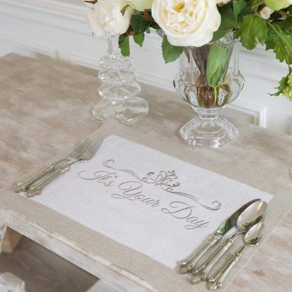Crown Linen Designs - It's Your Day Linen Placemat