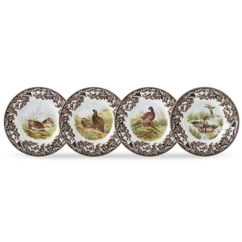 Spode - Woodland - Canape Plate Set of 4 - Birds 6.5""