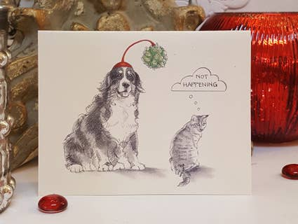 Fable & Sage Cards - Bernese Mountain Dog/Cat Holiday Cards