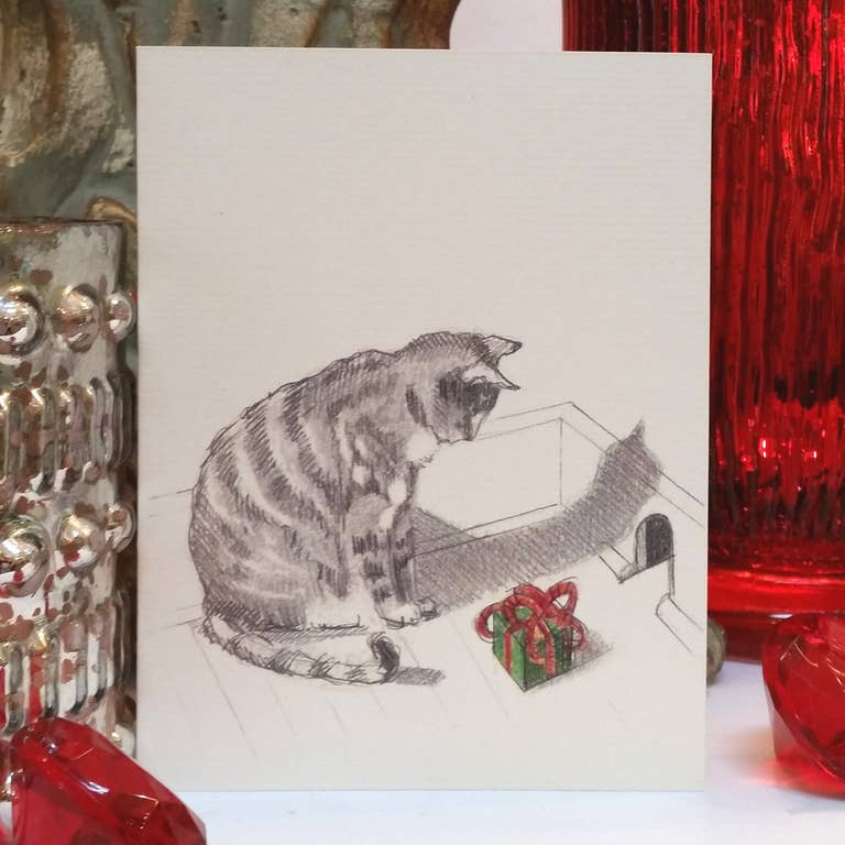 Fable & Sage Cards - A Cat Gift for Mouse Holiday Cards