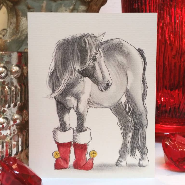 Fable & Sage Cards - Horse in Boots Holiday Cards