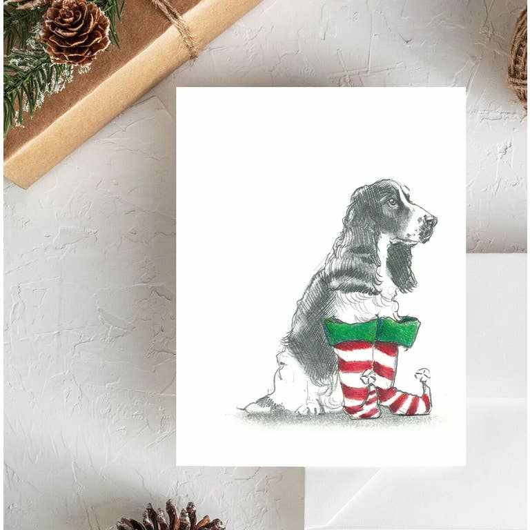 Fable & Sage Cards - English Springer Spaniel Holiday Cards