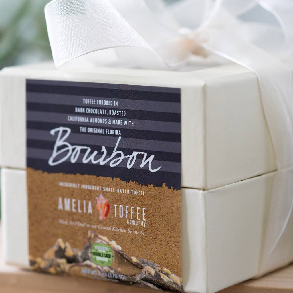 Amelia Toffee - Bourbon - 6 oz Ivory Gift Box