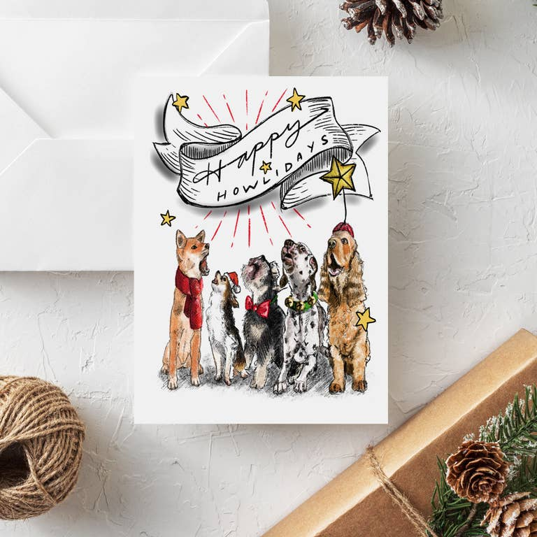 Fable & Sage Cards - Happy Howlidays Holiday Cards