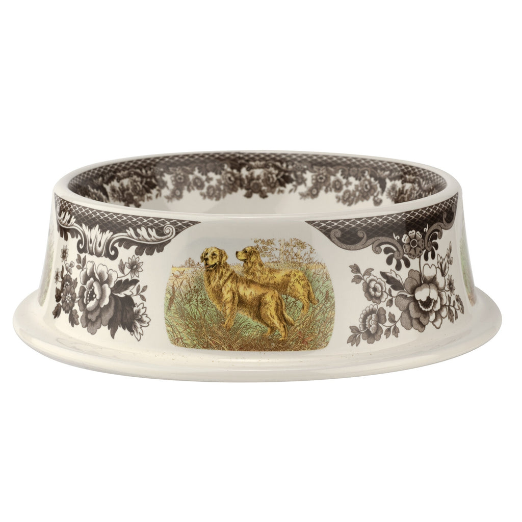 "Spode -Woodland Dogs Pet Bowl 8.5"" - Assorted Dogs"