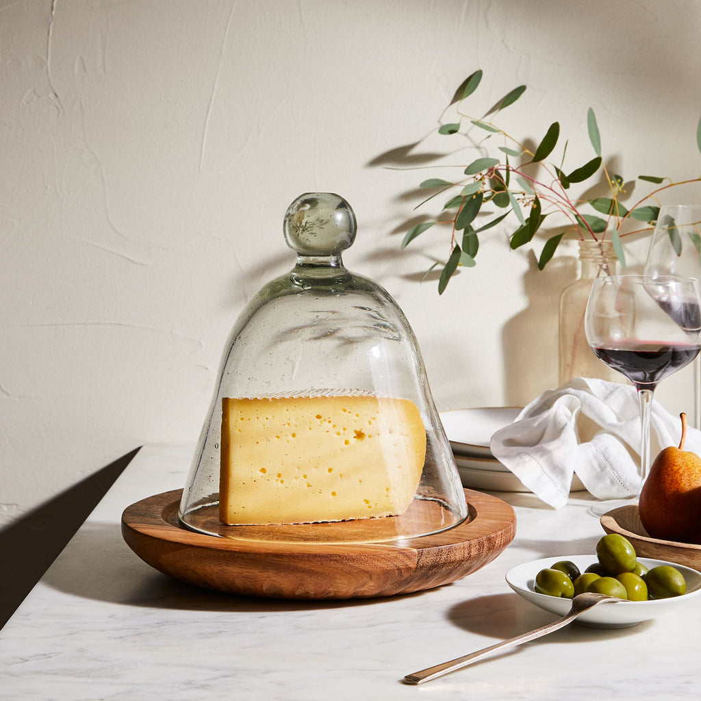 Sombremesa - Caro Caro Bar Cheese Board with Glass Cloche