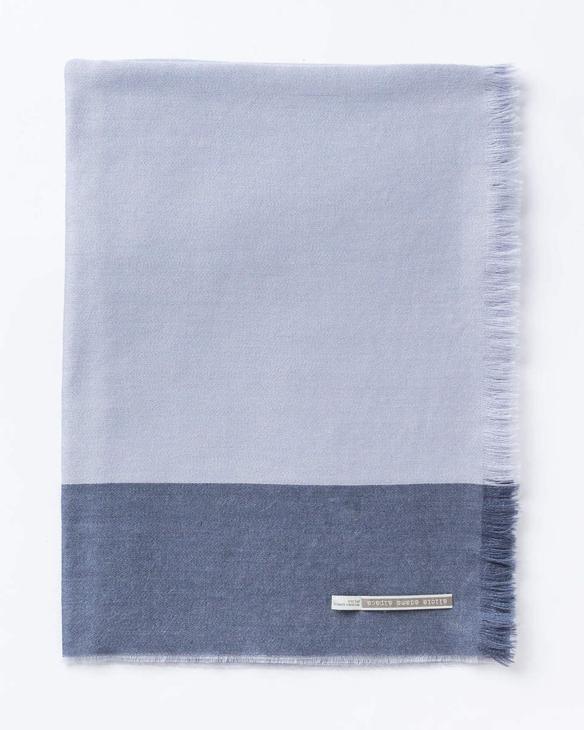 Alicia Adams Alpaca - Alassio Wrap, Denim Blue/Chambray