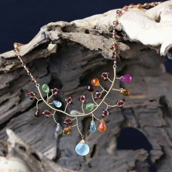 Chuang Yi Gallery -  Multi Stone Tree Necklace