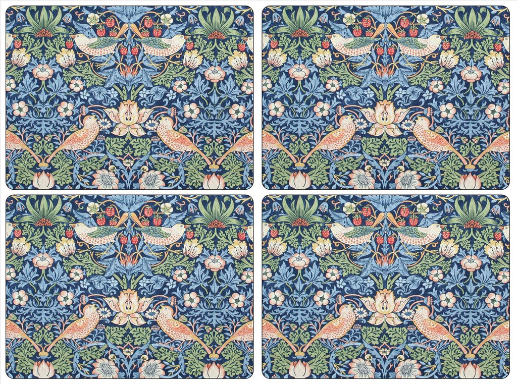 Pimpernel -Strawberry Thief Blue Placemats - Set of 4